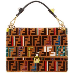 Fendi Kan I shoulder bag (404.240 RUB) ❤ liked on Polyvore featuring bags, handbags, shoulder bags, brown, man shoulder bag, brown leather tote, leather totes, brown leather tote bag and leather man bags
