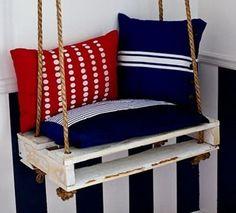 schaukel aus europalette möbeln dekokissen modern lustig