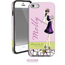 the perfect cell phone case for the bride to be. available online from The Fancy Envelope at  http://thefancyenvelope.printswell.com/products/bride-girl-brunette-iphone-55s-case.html