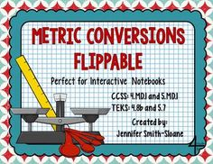 NEW Metric Conversions Flippable to Convert Measurements- Perfect for your Classroom