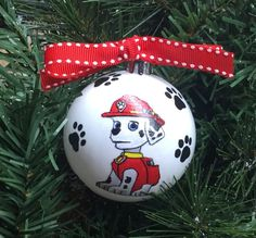 Paw Patrol Christmas ornaments will be as big a hit as Santa Claus at your house! You may want more than one of these Paw Patrol Christmas ornaments. Paw Patrol Christmas Ornaments, Handpainted Christmas Ornaments, Unique Christmas Decorations, Diy Christmas Ornaments, Christmas Bulbs, Homemade Christmas Gifts, Diy Christmas Tree, Christmas Projects, Christmas 2019
