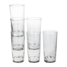 IKEA - GODIS Glass, clear glass 14oz $7.99/ 6 pack (I've had these for AGES - but some have broken - could use some replacements)
