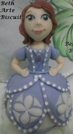 Princesinha Sofia em biscuit
