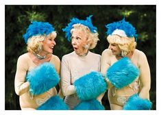 Carte double humour anglais disponible sur http://www.lelapindargile.com funny old ladies, pom pom girls