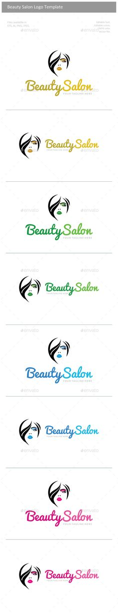 Beauty Salon	 Logo Design Template Vector #logotype Download it here: http://graphicriver.net/item/beauty-salon-logo/11093183?s_rank=845?ref=nexion