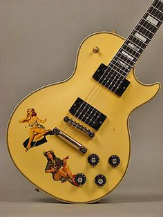 Gibson Steve Jones Les Paul Custom - Antique Yellow rod777 images
