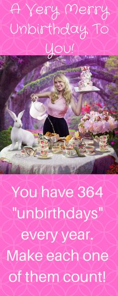 Celebrate every day of your life like it is your birthday!  I have 3 birthday wishes for you to carry with you all year long!   Alice In Wonderland birthday