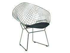 Diamond tuoli mustalla nahka pehmusteella