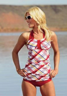"""This website has TONS of cute swim suits for women who don't like wearing bikinis or the dreaded """"mom"""" suit."""