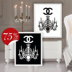 Chanel Poster Black and White Vintage от ArtBoutiqueButterfly
