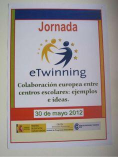 """Mayo 2012. Jornada eTwinning. """"Colaboración europea entre centros escolares: ejemplos e ideas"""", por Sergio González Moreau en el CPR."""