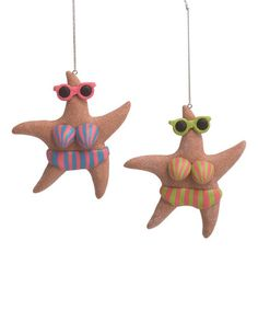 Another great find on #zulily! Bikini Star Fish Ornament - Set of Two #zulilyfinds