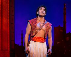 Adam Jacobs as Aladdin on Aladdin new musical on Broadway!