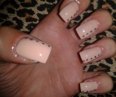 Cute nude nails! <3