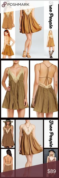 """FREE PEOPLE DRESS Slip Dress Crochet Lace Mini RETAIL PRICE: $98 NEW WITH TAGS   FREE PEOPLE DRESS Boho Slip Dress Mini  * V-neck & adjustable thin straps  * Beautiful embellished eyelet crochet lace & strappy back detail  * Pullover style w/a relaxed fit   * Approx 33"""" long  * Lightweight fabric  Fabric: 100% Polyester #FP Color: Martini  # sexy club # semi backless breathless No Trades ✅ Offers Considered*/Bundle Discounts✅  *Please use the blue 'offer' button to submit an offer Free…"""