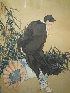 葛飾応為--北斎翁像