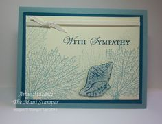 Anne's serene card uses By the Tide with Loving Thoughts.