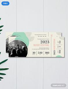 Concert Ticket Template Free, Concert Ticket Gift, Event Ticket Template, Music Tickets, Label Templates, Templates Printable Free, Blogger Templates, Instagram Photo Booth, Billet Concert