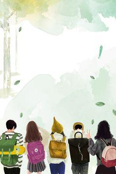 Literatura fresca Acuarela Temporada de apertura de escuela Mercancía Promoción Background Drawing, Flower Background Wallpaper, Cartoon Background, Wallpaper Powerpoint, Powerpoint Background Templates, Wattpad Cover Template, Wattpad Book Covers, Creative Poster Design, Creative Posters