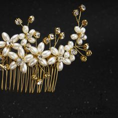 Fashion hair combs pearl jewelry crystal women hairpins bridal gold plated hair…