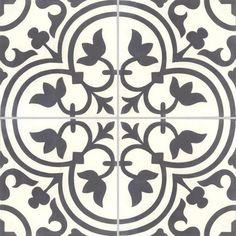 Carreaux de ciment - décors 4 carreaux - Carreau NORMANDIE 10.01 - Couleurs & Matières