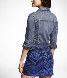 Express Oiler Denim Jacket - I need a short cut denim jacket to wear with dresses this summer!