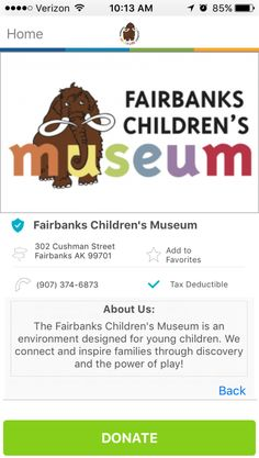 Fairbanks Children's Museum in Fairbanks, Alaska #GivelifyNonprofits