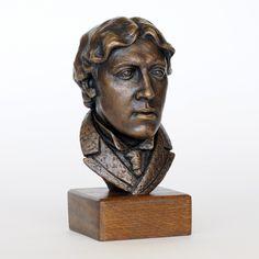 James Alexander Matthews: Oscar Wilde miniature bronze portrait