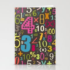 girl chocca numbers Stationery Cards