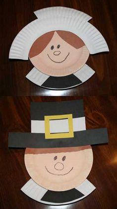 Easy Thanksgiving Crafts for Kids Pilgrim Paper Plate Craft. Easy Thanksgiving Crafts for Kids Daycare Crafts, Classroom Crafts, Turkey Crafts Preschool, Pre School Crafts, Toddler Crafts, Thanksgiving Crafts For Kids, Holiday Crafts, Thanksgiving Food, Harvest Crafts For Kids