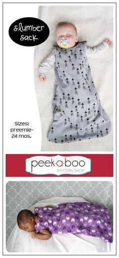 Slumber Sack Sleep Sack PDF Sewing Pattern / Baby Sleep Sack Pattern / Baby Pajamas Sewing Pattern / Baby Swaddle Sewing Pattern #sewing #sewingpattern #ad #baby #diy