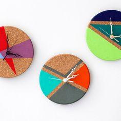 Des horloges en liège - Marie Claire Idées