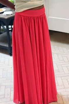 Bettinael jupe chiffon rouge tutoriel : 15 modèles de jupes, short et robe maxi skirt