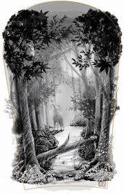 Bildergebnis für forest tattoo drawing