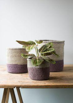 Dusky Purple Stripe Baskets