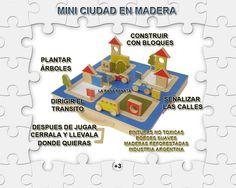Ciudad en Madera para armar y jugar en practica valija!!  www.laranarenata.com.ar