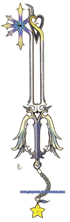 Oathkeeper Keyblade...thinking about getting this tattooed but dont know where yet.