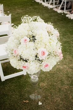 beautiful ceremony floral by @blumeevents Wedding collection by StepOnMe Photography