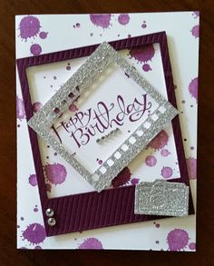 Impressers' Extraordinaire-I love adding my touches to cards!!! Purple and Bling it is.  Thanks, Stampin' Up!