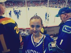 Michelle at Maple Leafs vs Canucks