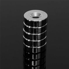 Nuevo 5 unids 15mm x 5mm Fuerte Imanes de Anillo Circular Agujero avellanado 5mm de Tierras Raras de Neodimio imán de Neodimio imán