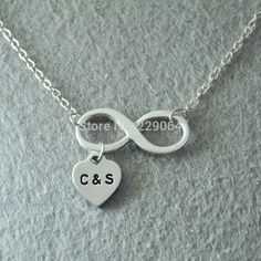 Find More Pendant Necklaces Information about Personalized infinity necklace, Personalized Jewelry, Hand stamped Infinity Jewelry, Custom initials jewelry,hand made jewelry,High Quality jewelry metal forming tools,China jewelry foam Suppliers, Cheap jewelry labradorite from Personalized Jewelry on Aliexpress.com