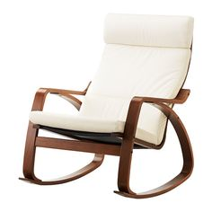POÄNG Rocking Chair IKEA Frame Made Of Layer Glued Bent Birch; A Very  Strong And Durable Material.