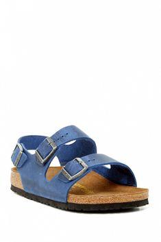 Birkenstock Milano Slingback Sandal // Blue slip on sandals