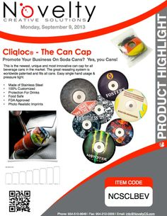 Cliqloc® - The Can Cap Promote Your Business, Announcement, Innovation, Highlights, Cap, Canning, Marketing, Creative, Baseball Hat