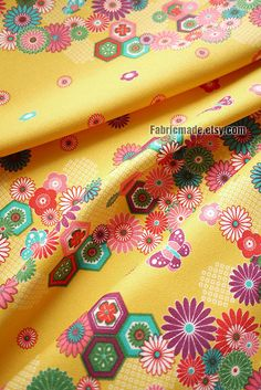 Japanese Kimono Fabric- you can get scraps of material like this at most fabric stores, it makes great patchwork, or just embellishment for bags or a collar