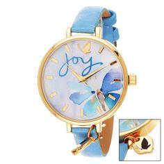 Xtreme Kathy Davis Scatter Joy Gold Case Joy Dial / Strap Watch, Women's