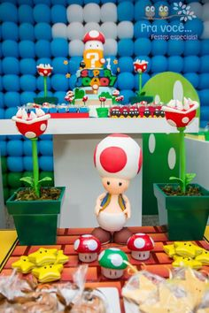Super Mario Bros Themed boy Birthday Party via Kara's Party Ideas - www.KarasPartyIdeas.com