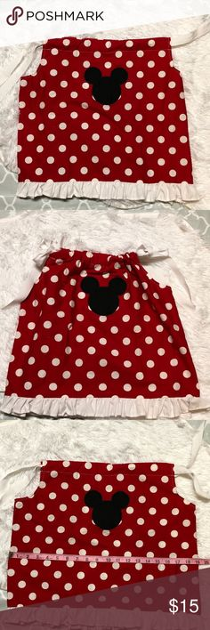 Mickey Mouse Pillowcase Dress Handmade. See pictures for measurements. Dresses Casual