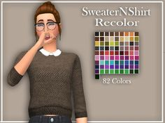 Baxuz's zzorannaa SweaterNShirt Recolor - mesh needed